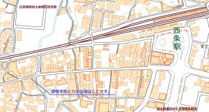 漆喰手形取りの会場は西条駅から旧山陽道を西に300mほど歩いたところです。